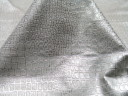 metallic Imprint Small Croc Taupe With Metallic Silver