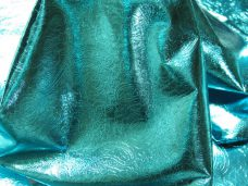 metallic imprinted metallic turquoise