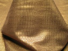 metallic Imprint Small Croc Brown With Metallic Bronze